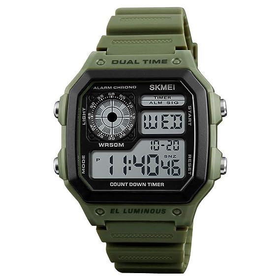 DRKJ Reloj Deportivo para Hombres, Simple Y Elegante. Reloj Casual LED Electrónico para Hombres
