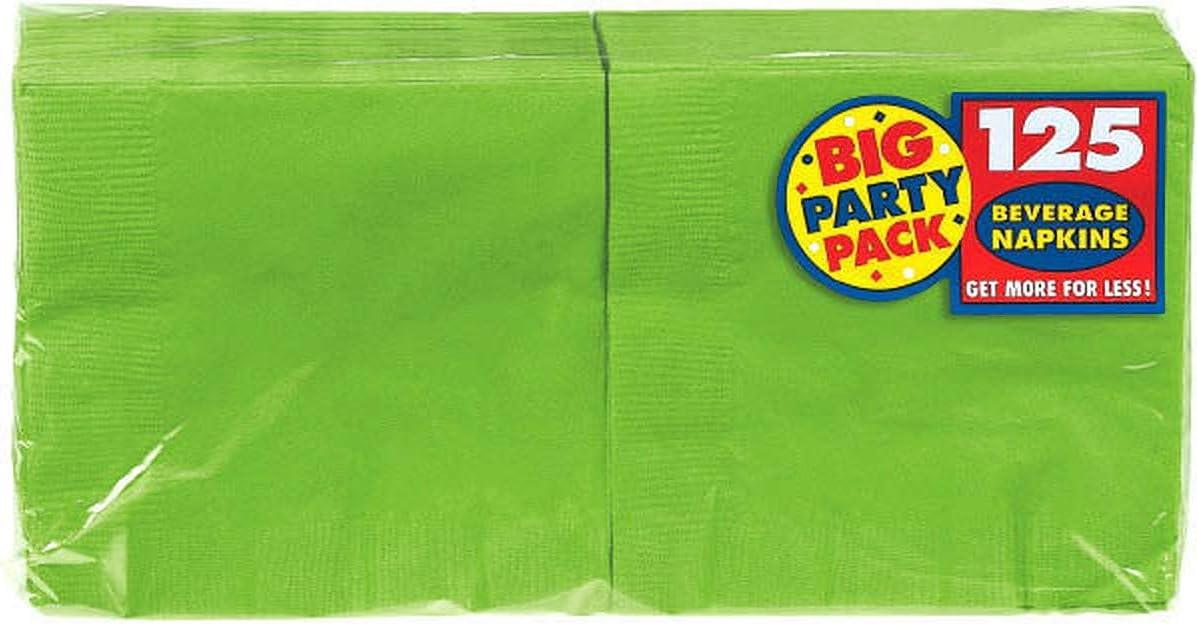 Big Party Pack Kiwi Green Beverage Paper Napkins. 6 Pk.