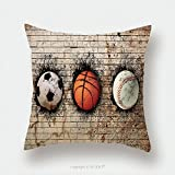Custom Satin Pillowcase Protector 70904995 Stock Photo Basketball Baseball And Soccer Pillow Case Covers Decorative