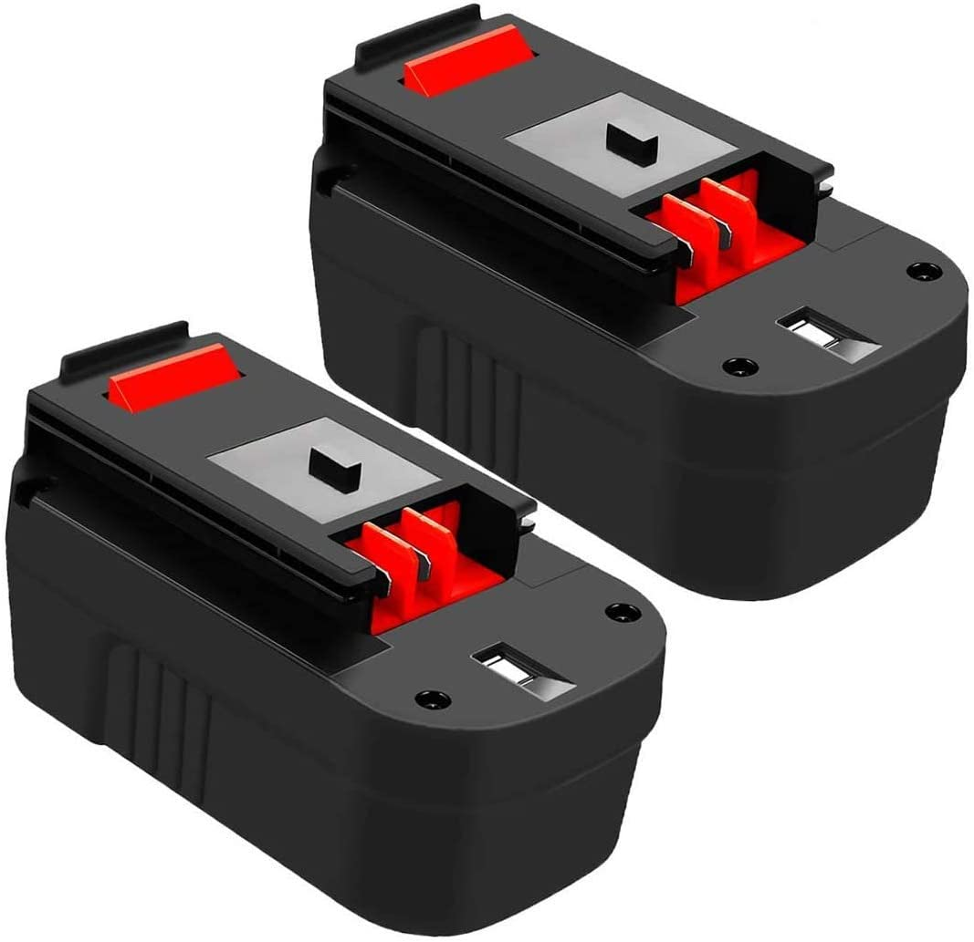 2 Pack HPB18 Replacement Battery Compatible with Black and Decker 18V HPB18-OPE 244760-00 A1718 A18 FSB18 FS18FL FEB180S Firestorm Battery for 18 Volt Power Tools