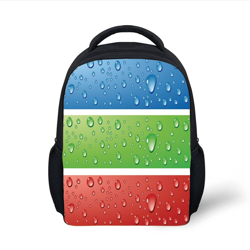 918812949e61 Amazon.com: iPrint Kids School Backpack Modern Decor,Water Drops on ...