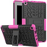 "Maomi AMZ flre 7"" (2017 Release) Case,[Kickstand Feature],Shock-Absorption/High Impact Resistant Heavy Duty Armor Defender Case for AMZ flre 7 inch 2017 Tablet (Pink)"