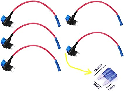 12V Car Add-a-circuit Fuse TAP Adapter Standard ATM APM Auto Blade Fuse Holder k
