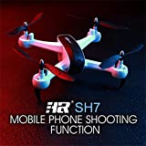 SH7 2.4Ghz 6 Axis Gyro 1080P WIFI FPV RC Drone / Altitude Hold Function / Three gear shifts / Gesture mode / FOLLOW ME MODE / FPV Live Video / Perfet for Kids Christmas Day and Brithday Gift (White)
