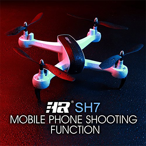 SH7 2.4Ghz 6 Axis Gyro 1080P WIFI FPV RC Drone / Altitude Hold Function / Three gear shifts / Gesture mode / FOLLOW ME MODE / FPV Live Video / Perfet for Kids Christmas Day and Brithday Gift (White) by Fineser Drone
