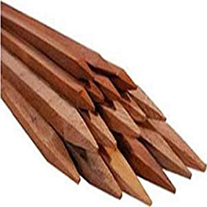 "Bond Manufacturing Co 93506 3ft x 1/2in Packaged Hardwood Stakes (6-Pack), 3' x 0.5"" x 0.5"", Natural"