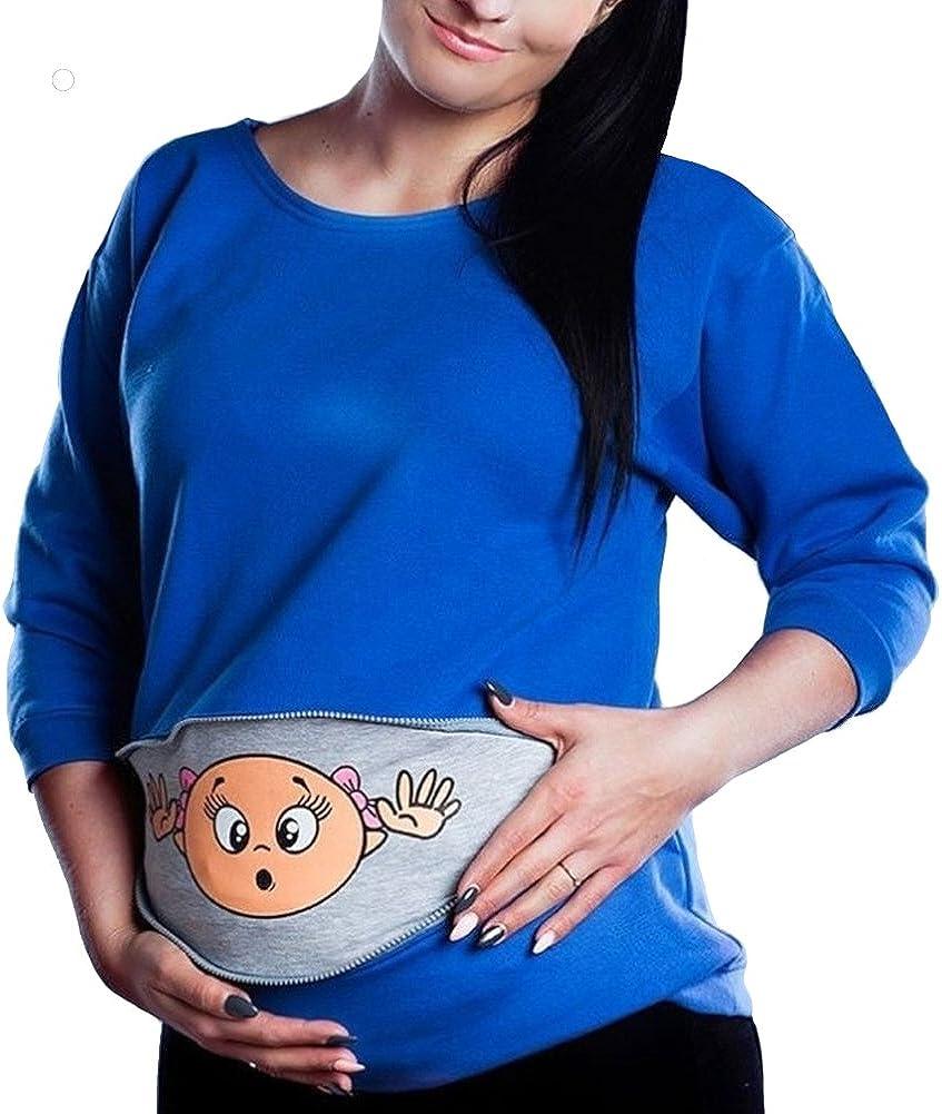 Q.KIM Donna Autunno Manica Lunga Felpa Per la Madre Felpa Top Sweatshirt con Stampa