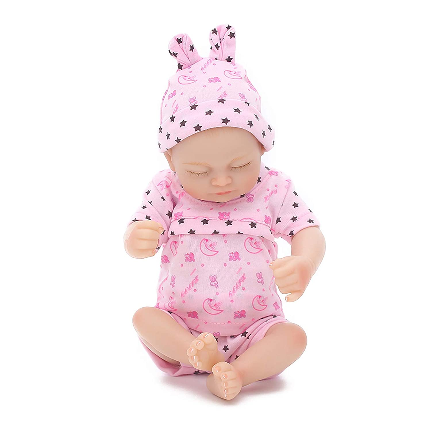 Wamdoll Rare Alive Reborn Baby Dolls,Sweet Dreams Palm Girl,10 inch Vinyl-Like Silicone Full Body Otard
