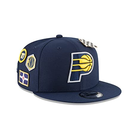 best service 7d075 839d4 Image Unavailable. Image not available for. Color  New Era Indiana Pacers  2018 NBA Draft Cap 9FIFTY Snapback Adjustable Hat- Navy