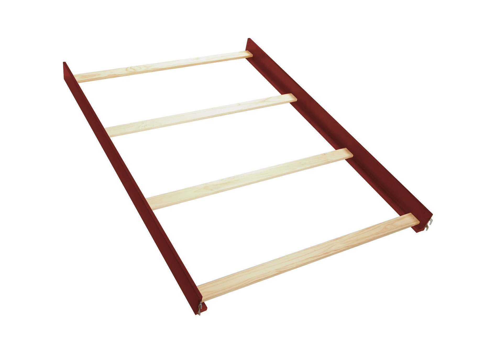 Full Size Conversion Kit Bed Rails for Dolce Babi Naples Crib - Walnut Brown