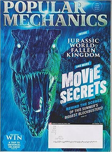 Popular Mechanics July August 2018 Inside Jurassic World Fallen