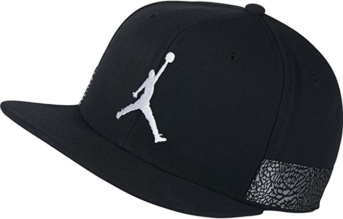 Nike Air Jordan Jumpman Pro AJ3 Cap Black White: Amazon.es: Ropa y ...
