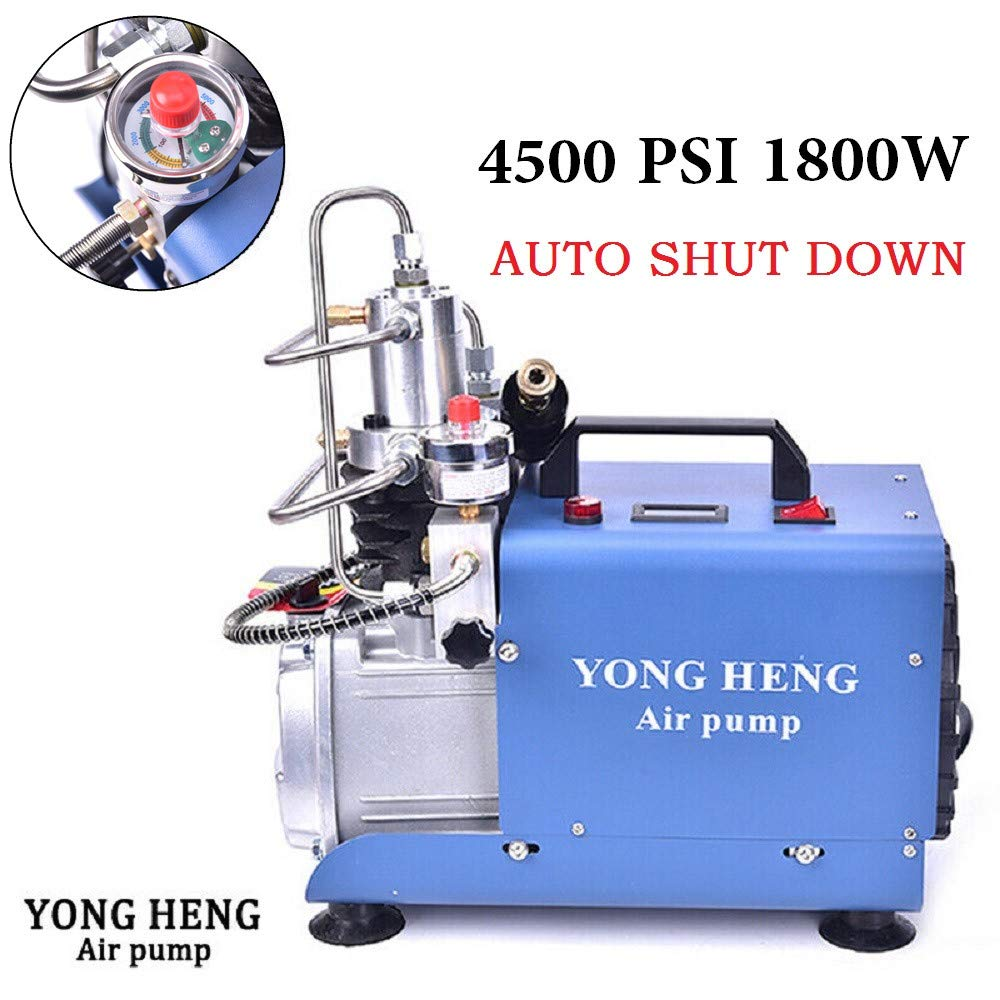Auto-Stop 110V 30Mpa Electric Air Pump Air Rifle PCP 4500PSI Paintball Fill Station for Fire Fighting and Diving YONG HENG High Pressure Air Compressor Pump