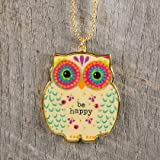 owl air freshener for car - Natural Life Glitter and Gold Car Charms