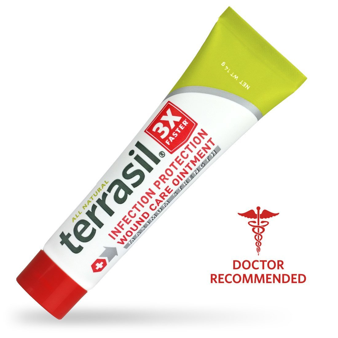 Terrasil® Wound Care MAX - 3X Faster Healing, Dr. Recommended, 100% Guaranteed, Patented, Homeopathic infection bed & pressure sores diabetic wounds venous foot & leg ulcers cuts scrapes burns by Aidance Skincare & Topical Solutions