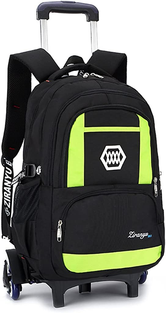 Kids Rolling Backpacks Trolley Schoolbag 6 Wheeled Waterproof Removable luggage