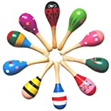 Amazon Price History for:New Wooden Maraca Wood Rattles Egg Shaker Kids Musical Party Favor Kid Baby Shaker Sand Hammer Toy