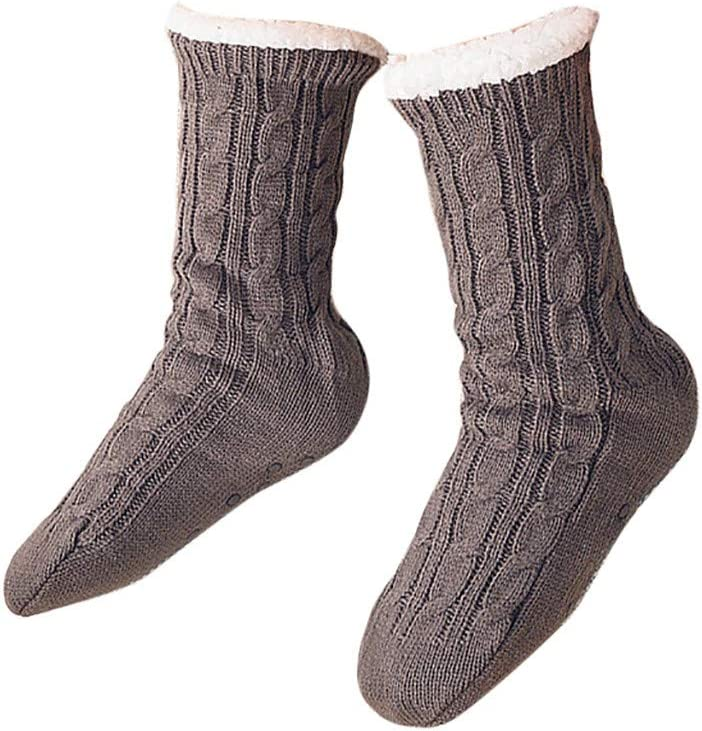 Warm Soft Fuzzy Thick Crew Socks for Casual Home Sleeping Winter Fluffy Socks for Women and Girls