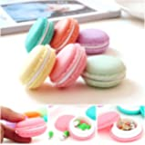 Kemilove 6 PCS Mini Earphone SD Card Macarons Bag Storage Box Case Carrying Pouch