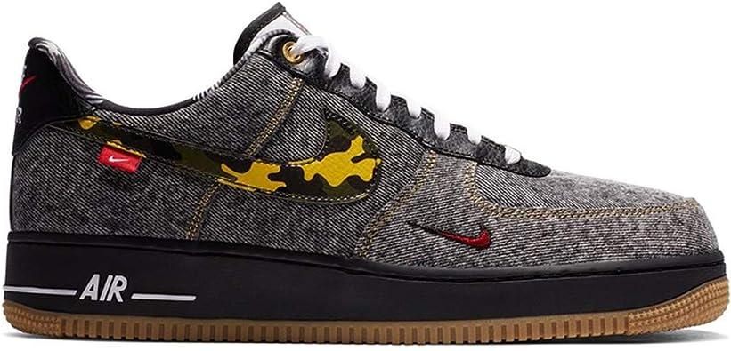 Nike Men's Shoes Air Force 1 Low Remix Black DB1964-001