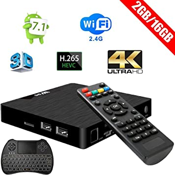 Android 7.1 TV Box - W95 Newest Smart TV Box AmlogicS905W Quad Core, 2GB RAM 16GB ROM,