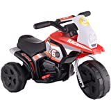 JAXPETY Kids Ride On Motorcycle Battery Powered 3 Wheel Bicycle Electric Toy New Red