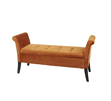Awe Inspiring Amazon Com Wood Style Furniture Bench Spice Orange Home Pdpeps Interior Chair Design Pdpepsorg