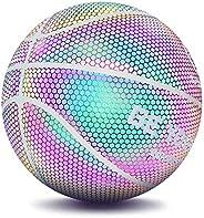 iGREATWALL Light Up Basketball, Glowing Basketball Night Game Street PU Rainbow Light Training Ball