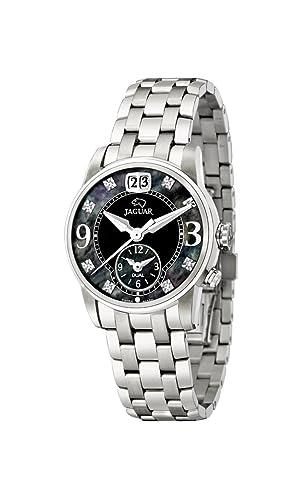Jaguar Watches J623/C - Reloj analógico de Cuarzo para Mujer, Correa de Acero Inoxidable Color Plateado: Amazon.es: Relojes