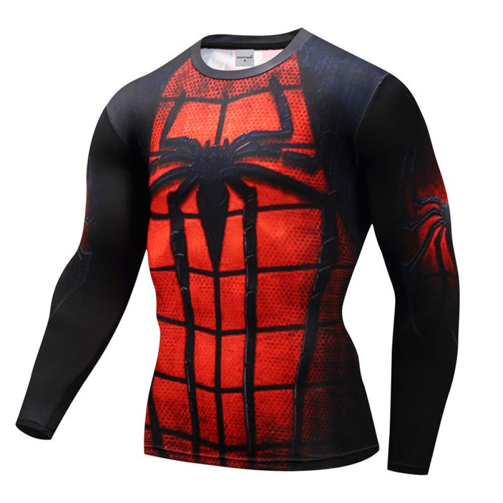 JUFENG Manga Larga Spiderman 3D Impreso Camisetas Hombres Camisas ...