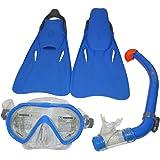 طقم ماسك سانتا كروز للأطفال من اكوا لونج US-1001595، منشا، زعانف