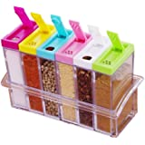 RSTC Spice JAR Set of 6 P PC Easy Flow Storage, IDILE for KITCHE- Storage Box Container