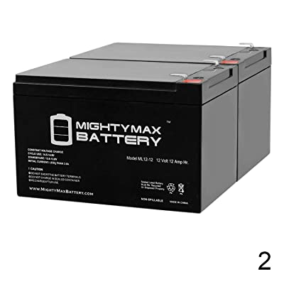 Mighty Max Battery 12V 12Ah F2 for Peg Perego DJW12-12 DMU12-12 w/Warranty! - 2 Pack Brand Product : Sports & Outdoors