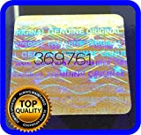 128 pcs Hologram labels with serial numbers, warranty stickers seals .70 x .70 inch