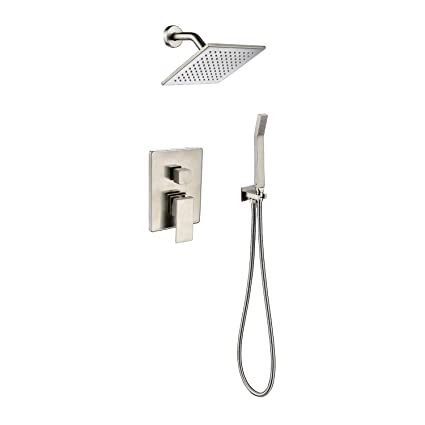 brushed nickel shower fixtures mixer shower fixtures brushed nickel all metal split big flow rain shower faucet systems