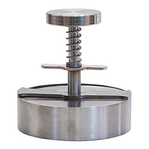 Molde para Hamburguesas Manual de Acero Inoxidable, Diámetro=100 mm
