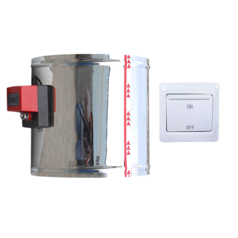 1 pi/èce 220v HVAC registre ventilation motoris/é clapet motoris/é diam/ètre 80 100 125 150 200 250 300 250 400 mm Hauteur 190mm + Diam/ètre ext/érieur 150mm