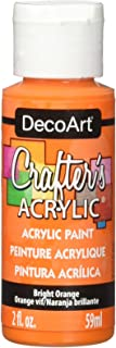 product image for DecoArt Crafter's Acrylic Paint, 2-Ounce, Bright Orange