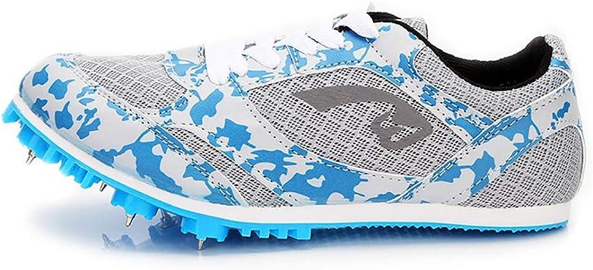 ZLYZS Zapatillas con Clavos para Atletismo, Zapatillas de Atletismo para jóvenes Profesionales con Pista y Campo 7 Zapatillas para Correr Medianas y Cortas: Amazon.es: Zapatos y complementos