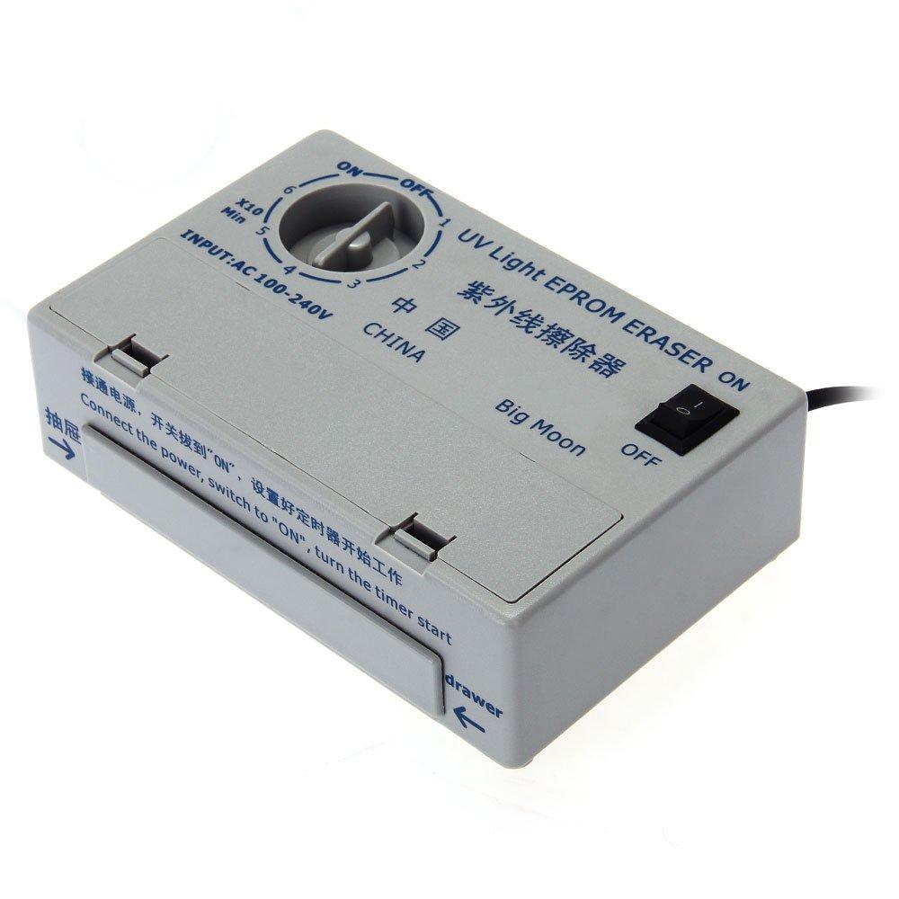 UV EPROM Löscher Eraser Ultraviolett Löschgerät Timer EU-Standard AC 100V-240V