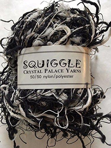 Crystal Nylon Yarn (Crystal Palace Yarns Squiggle #9418 Black & White (& Grey))
