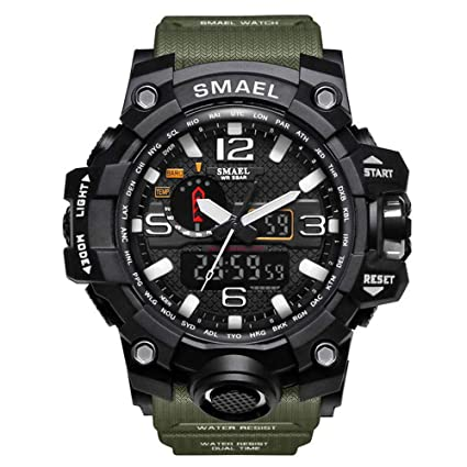 DYTA Analog-Digital Watches for Men LED Dual Display Sport Wrist Watches 5ATM Water Resistant
