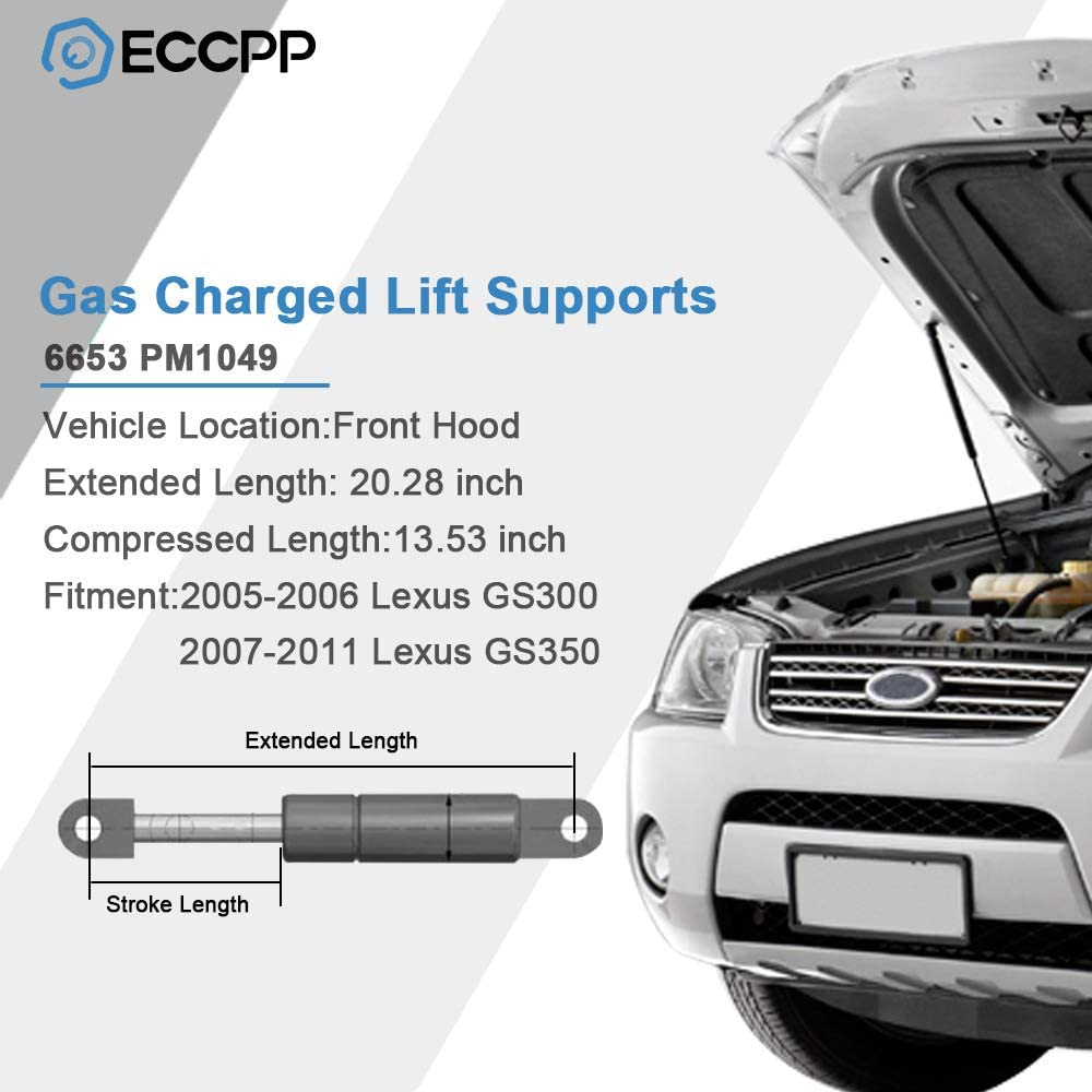 Qty2 Front Hood Lift Supports Shocks Sturts For Lexus GS300 2005-07