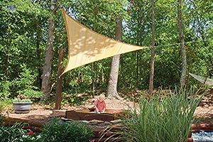 Amazon Com Shelterlogic Triangle Sun Shade Sail Sand Sports