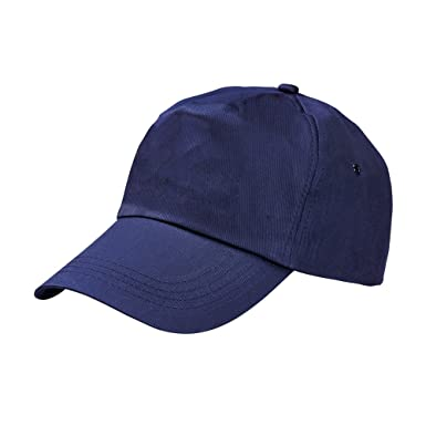 79df3eb8 US BASIC 5 PANEL BASEBALL CAP HAT - 10 COLOURS, Navy, Fits up to ...