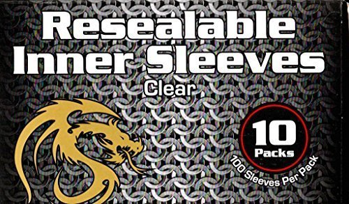 1000 BCW Resealable Inner Card Sleeves for Double Sleeving Gaming Cards by BCW