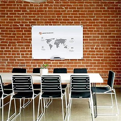 Glass Blackboard Whiteboard Dry Erase Board Black Magnetic for Home School Office
