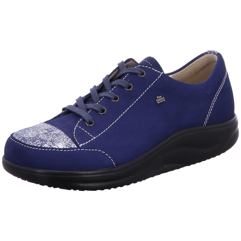 Finn Comfort Zapatos de Cordones de Piel Para Mujer Multicolor Azul 4