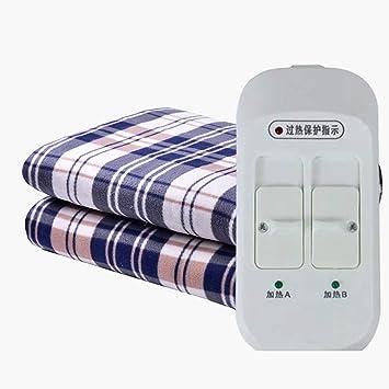 SRTLT eléctrico manta electrica king, Timing inteligente doble control a prueba de agua esterilla electrica