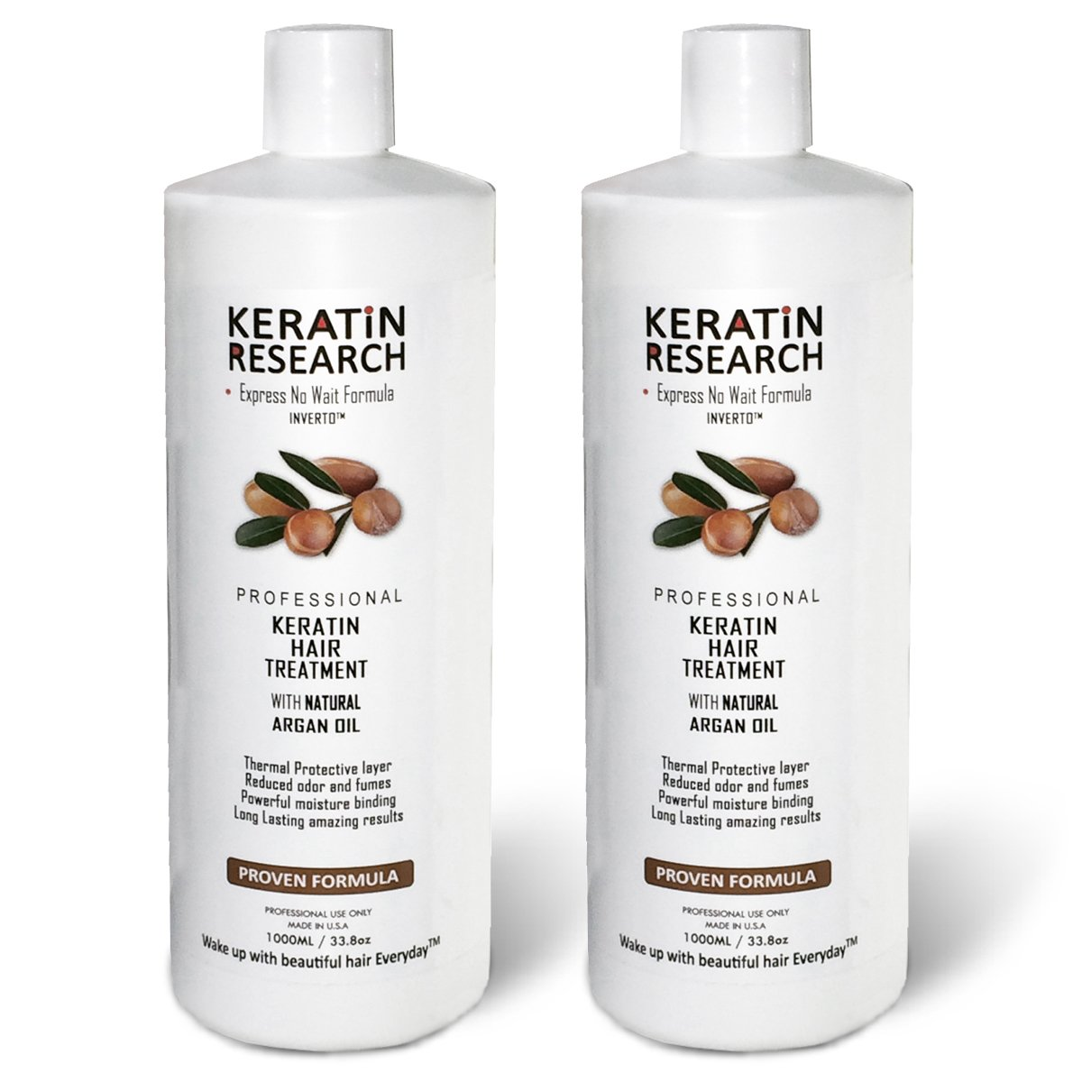 Brazilian Keratin Blowout Straightening Smoothing Hair Treatment Conditioner 2000ml 2 Liters Professional Complex Bottle by Keratin Research